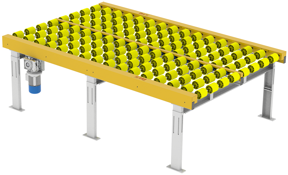 Slip clutch roller conveyor